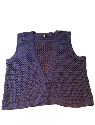 Les Prairies de Paris Purple Cotton Knitwear for Women