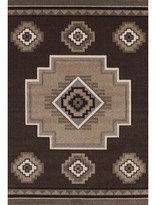 "Woodside Southwestern Brown/Tan Area Rug Millwood Pines Rug Size: 5'3"" x 7'6"""