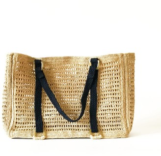 Maraina London Agnes Large Raffia Beach Bag