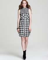 Derek Lam 10 Crosby Sleeveless Dress - Flannel with Tab Collar