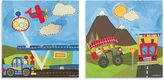 Oopsy Daisy Fine Art For Kids Too Country and Mountain Transportation 2-Piece Canvas Wall Art