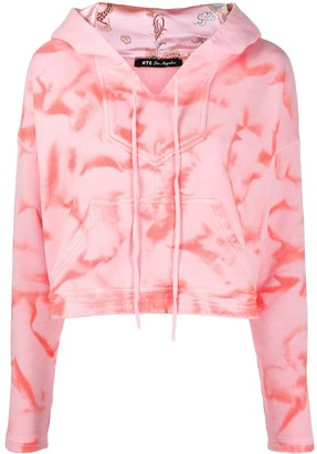 HTC Los Angeles tie-dye cropped hoodie