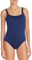 Polo Ralph Lauren Solid Tank Scoop Back One Piece Swimsuit
