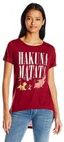 Disney Junior's Lion King Hakuna Matata Group Shot High Low Roll Cuff Drapey Graphic T-Shirt
