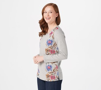 Factory Quacker Printed Floral with Rhinestone Top