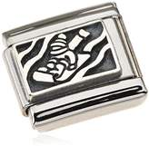 """Nomination COMPOSABLE Women """"s Charm 925 Sterling Silver oxidised Sleigh 330102 24 / Stainless Steel"""
