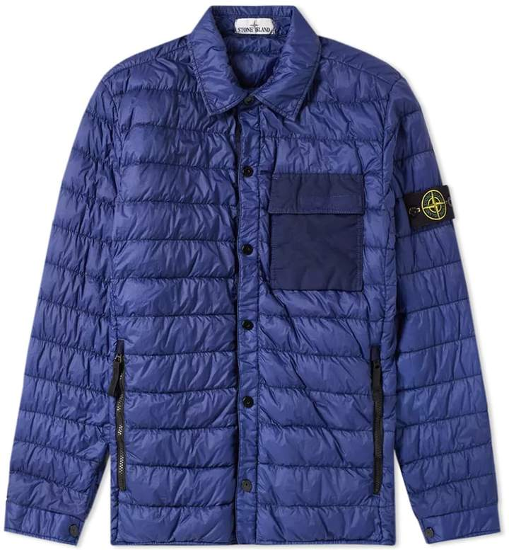 Stone Island Garment Dyed Down Filled Overshirt