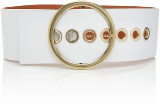 MAISON BOINET Grommet-Embellished Leather Belt
