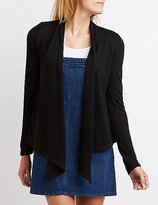Charlotte Russe Draped Open Cardigan