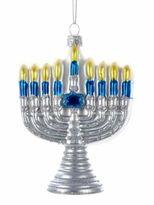 Kurt Adler Noble Gems Glass Menorah Ornament