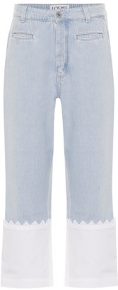 Loewe Paneled high-rise straight jeans