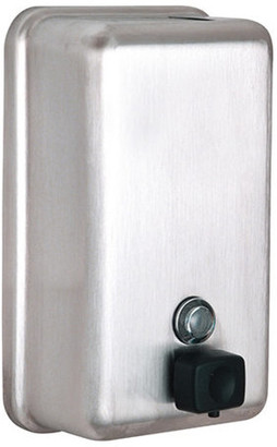 Alpine Industries Manual Vertical Stainless Steel Liquid Soap Dispense