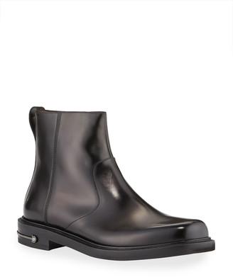 Salvatore Ferragamo Men's Sefton Gancini Leather Side-Zip Ankle Boots