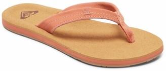Roxy Women's Avila Suede Flip Flop Carver Sandal Sport Slide