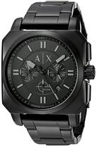 Armani Exchange Takedown AX1651 Men's Black Stainless Steel Chronograph Watch