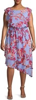 Adrianna Papell Plus Baroque Floral Blouson Dress
