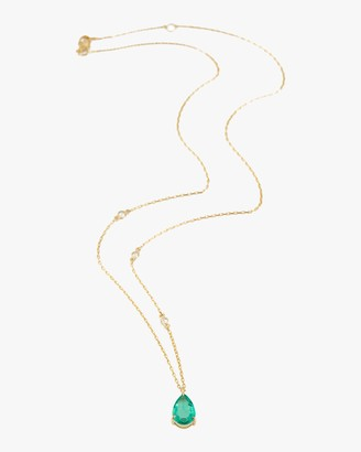 Yi Collection Emerald Dewdrop Pendant Necklace