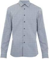 Prada Single-cuff checked cotton shirt
