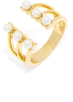 BaubleBar Pearl Crown Ring