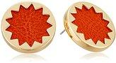 House Of Harlow Sunburst Button Cognac Stud Earrings