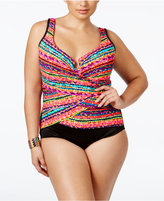 Miraclesuit Plus Size Night Lights Printed Underwire One-Piece Swimsuit