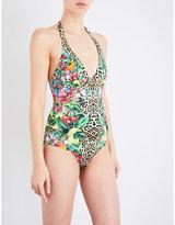 Camilla Cool Cat halterneck swimsuit