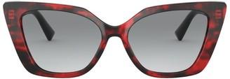 Valentino VLOGO Cat-Eye Sunglasses