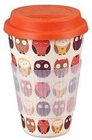 Cambridge Silversmiths CM04530 Owl Bamboo Eco Travel Mug