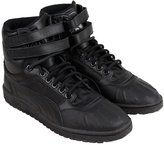 Puma Sky II Hi Duck Boot Mens Black Leather High Top Lace Up Sneakers Shoes 10.5