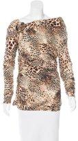 Blumarine Wool Leopard Print Top