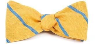 Tie Bar Spring Break Stripe Yellow Gold Bow Tie