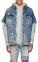 R 13 Men's Distressed Oversized Denim Trucker Jacket