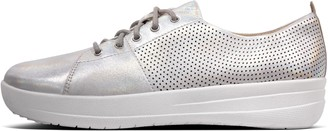 FitFlop F-Sporty Perf Scoop-Cut Leather Sneakers