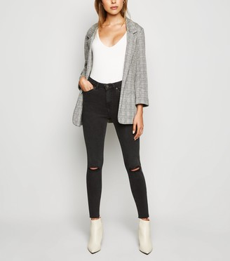 New Look 'Lift & Shape' Ripped Skinny Jeans