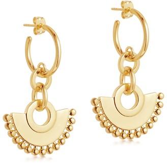 Missoma Calima Chandelier 18kt gold vermeil hoop earrings