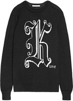 Christopher Kane Kane Intarsia Wool Sweater - Black