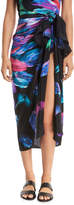 Gottex Reverie Feather-Printed Silk Pareo Coverup, One Size