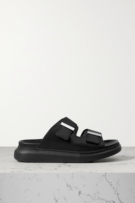 Alexander McQueen Leather Exaggerated-sole Sandals - Black