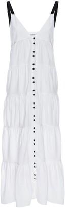 Frame Tiered Cotton Blend Maxi Dress