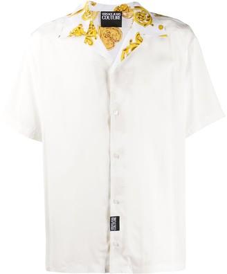 Versace Graphic-Print Short-Sleeve Shirt