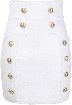 Balmain Button Detailed Mini Skirt