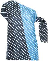 Tibi asymmetric tie top