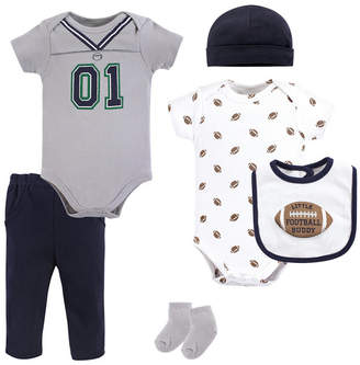 Baby Vision Little Treasure Unisex Baby Layette Set, Football Jersey, 6-Piece Set, 9-12 Months