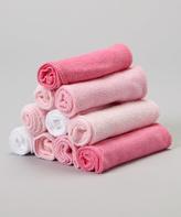 SpaSilk Pink Washcloth Set