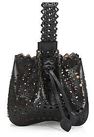 Alaia Women's Vienne Laser-Cut Leather Bracelet Bucket Bag