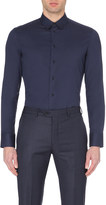 Armani Collezioni Single-cuff stretch-cotton shirt