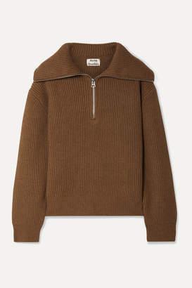 Acne Studios Kelanie Ribbed Wool-blend Sweater - Brown