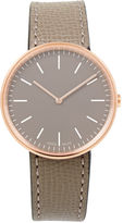 Uniform Wares Grey Leather Strap Rose-Gold M35 Watch