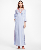 Brooks Brothers Floral-Embroidered Caftan