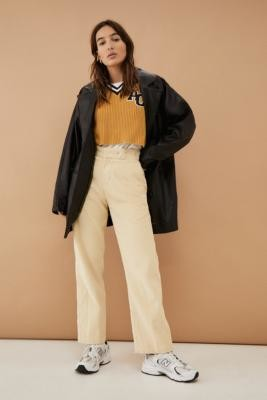 Dickies Elizaville Corduroy Taupe Trousers - White 24 at Urban Outfitters